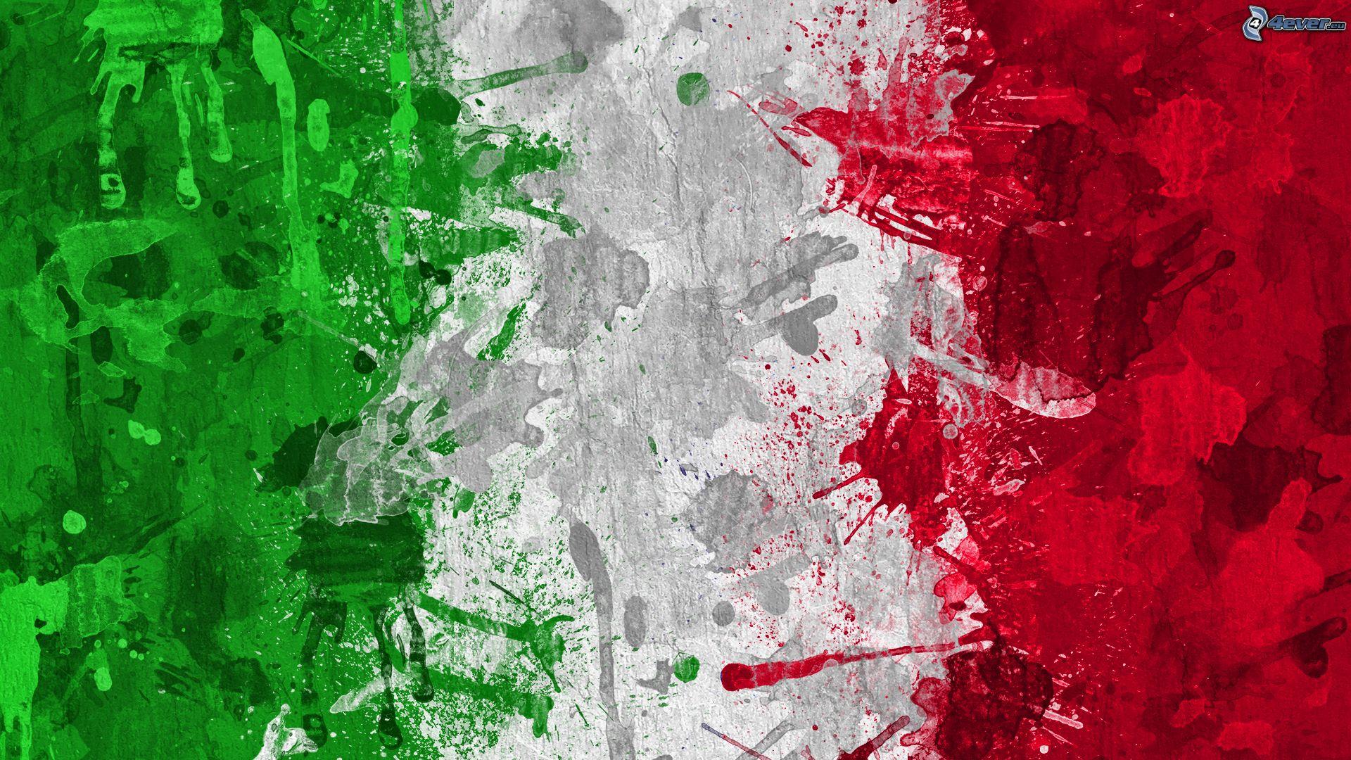 Bandiera Italiana Verde Bianco Rosso Colori 164093 Salone